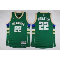 Men Milwaukee Bucks 22 Middleton Green Adidas NBA Jersey