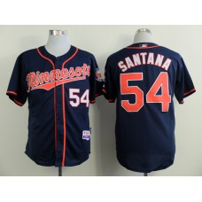 Men Minnesota Twins 54 Santana Blue MLB Jerseys