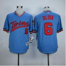 Men Minnesota Twins 6 Oliva Blue Throwback MLB Jerseys