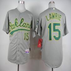 Men Oakland Athletics 15 Lawrie Grey MLB Jerseys