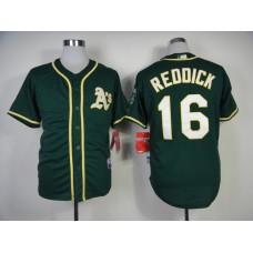 Men Oakland Athletics 16 Reddick Green MLB Jerseys