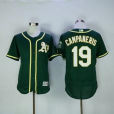 Men Oakland Athletics 19 Campaneris Green MLB Jerseys
