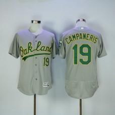 Men Oakland Athletics 19 Campaneris Grey MLB Jerseys
