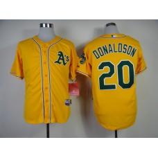 Men Oakland Athletics 20 Donaldson Yellow MLB Jerseys