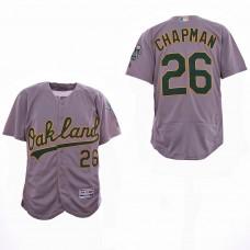 Men Oakland Athletics 26 Chapman Grey Elite MLB Jerseys