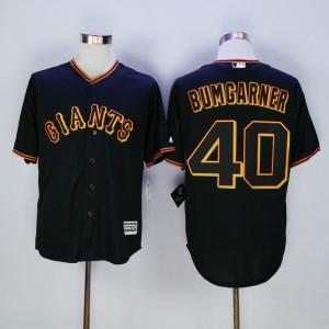 Men San Francisco Giants 40 Bumgarner Black MLB Jerseys