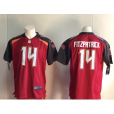 Men Tampa Bay Buccaneers 14 Fitzpatrick red Nike Vapor Untouchable Limited Player NFL Jerseyss