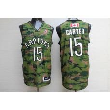 Men Toronto Raptors 15 Carter Camo Adidas NBA Jerseys