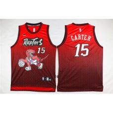 Men Toronto Raptors 15 Carter Red Drift Adidas NBA Jerseys