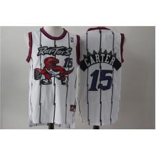 Men Toronto Raptors 15 Carter White NBA Jerseys