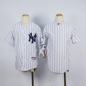 Youth New York Yankees Blank White MLB Jerseys