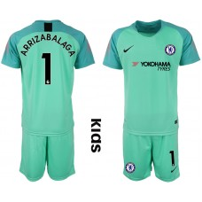 2018_2019 Club Chelsea green Youth goalkeeper 1 soccer jerseys