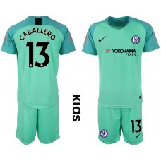2018_2019 Club Chelsea green Youth goalkeeper 13 soccer jerseys