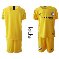 2018_2019 Club Chelsea yellow Youth goalkeeper soccer jerseys