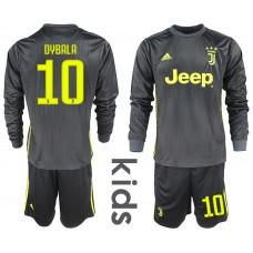 2018_2019 Club Juventus away long sleeves Youth 10 soccer jerseys