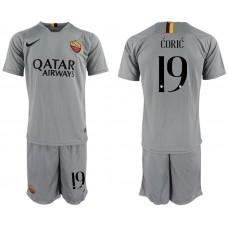 Men 2018-2019 club Rome away 19 grey Soccer Jerseys