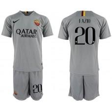 Men 2018-2019 club Rome away 20 grey Soccer Jerseys