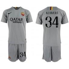 Men 2018-2019 club Rome away 34 grey Soccer Jerseys