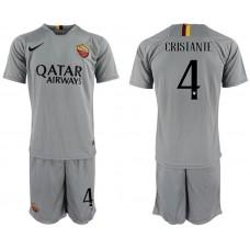 Men 2018-2019 club Rome away 4 grey Soccer Jerseys