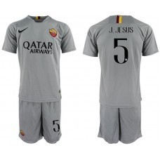 Men 2018-2019 club Rome away 5 grey Soccer Jerseys