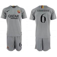 Men 2018-2019 club Rome away 6 grey Soccer Jerseys