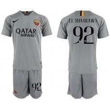 Men 2018-2019 club Rome away 92 grey Soccer Jerseys
