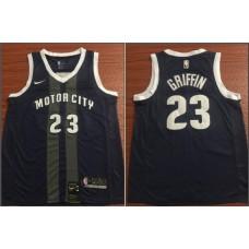 Men Detroit Pistons 23 Griffin Black City Edition Game Nike NBA Jerseys