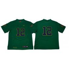 Men Norte Dame Fighting Irish 12 No name Green Stitched NCAA Jersey