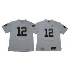 Men Norte Dame Fighting Irish 12 No name White Stitched NCAA Jersey