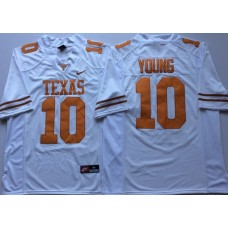 Men Texas Longhorns 10 Young White Nike NCAA Jerseys