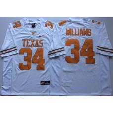 Men Texas Longhorns 34 Williams White Nike NCAA Jerseys