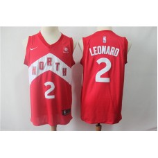 Men Toronto Raptors 2 Leonard Red City Edition Game Nike NBA Jerseys