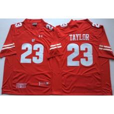Men Wisconsin Badgers 23 Taylor Red NCAA Jerseys