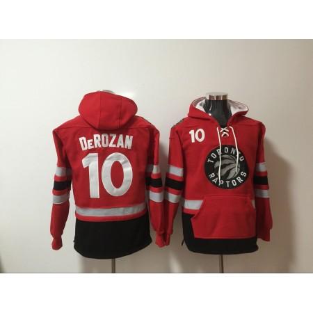 NBA Men Toronto Raptors 10 Derozan red Sweatshirt