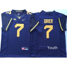 Youth West Virginia Mountaineers 7 Grier Blue Nike NCAA Jerseys