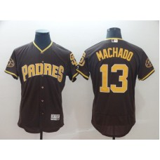 2019 MLB Men San Diego Padres 13 Machado brown Flexbase Jerseys