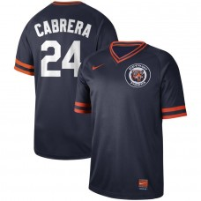 2019 Men MLB Detroit Tigers 24 Cabrera blue Nike Cooperstown Collection Jerseys