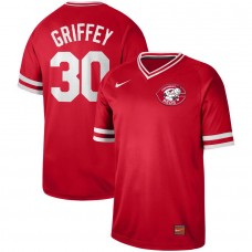 Men Cincinnati reds 30 Griffey Red Nike Cooperstown Collection Legend V-Neck MLB Jersey