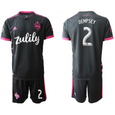 Men 2019-2020 club Seattle Sounders away 2 black Soccer Jerseys