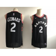 2019 Men Toronto Raptors 2 Leonard black Game NBA Nike Jerseys