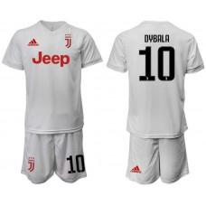 Men 2019-2020 club Juventus away white 10 Soccer Jerseys