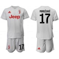 Men 2019-2020 club Juventus away white 17 Soccer Jerseys