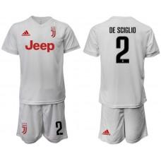 Men 2019-2020 club Juventus away white 2 Soccer Jerseys