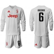 Men 2019-2020 club Juventus away white long sleeve 6 Soccer Jerseys
