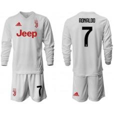 Men 2019-2020 club Juventus away white long sleeve 7 Soccer Jerseys
