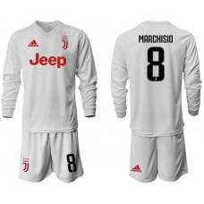 Men 2019-2020 club Juventus away white long sleeve 8 Soccer Jerseys