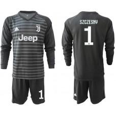 Men 2019-2020 club Juventus black long sleeve goalkeeper 1 Soccer Jerseys