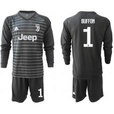 Men 2019-2020 club Juventus black long sleeve goalkeeper 1 Soccer Jerseys1