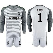 Men 2019-2020 club Juventus gray long sleeve goalkeeper 1 Soccer Jerseys1