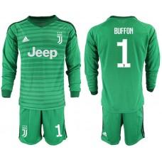Men 2019-2020 club Juventus green long sleeve goalkeeper 1 Soccer Jerseys1